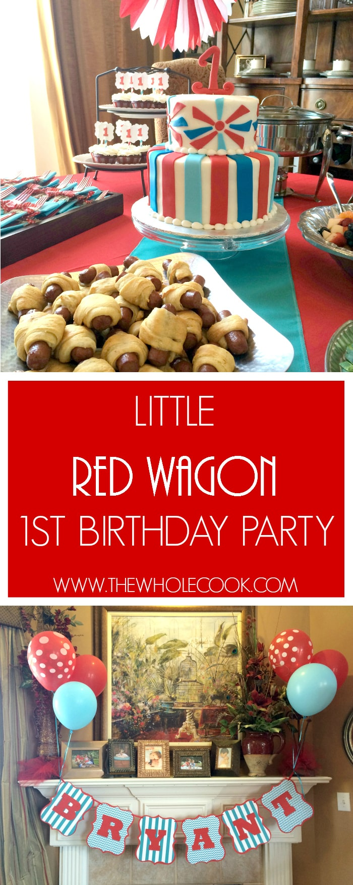 Little Red Wagon 1st Birthday Party