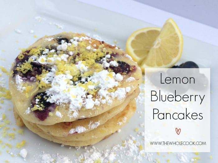 Lemon Blueberry Pancakes TITLE