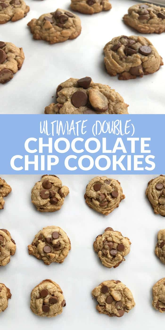 Ultimate Double Chocolate Chip Cookies PINTEREST