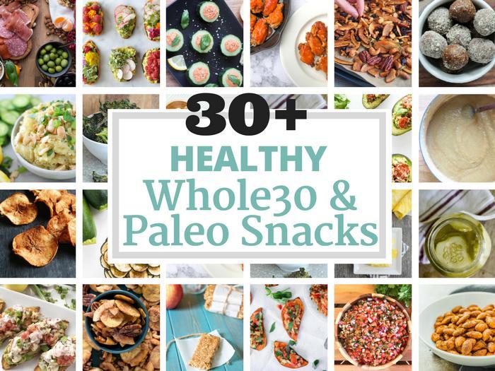 30+ Healthy Whole30 & Paleo Snacks via The Whole Cook HORIZONTAL FEATURE