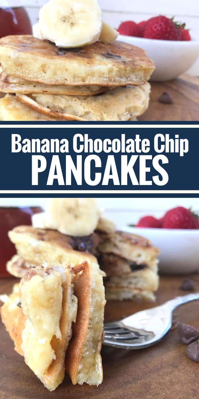 Banana Chocolate Chip Pancakes by The Whole Cook