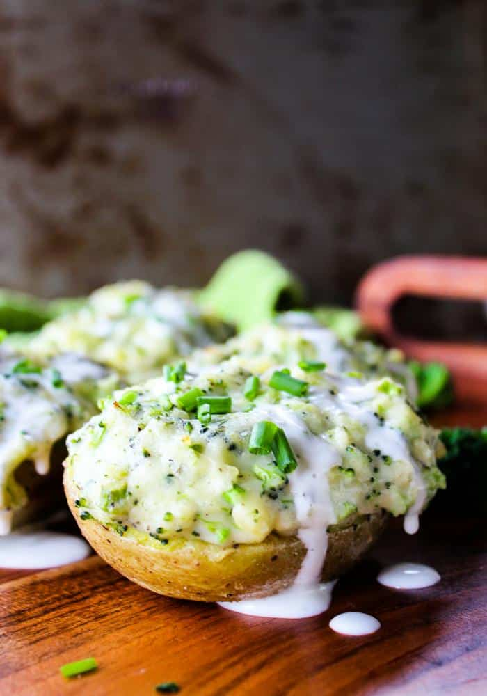 Broccoli Ranch Twice Baked Potatoes by The Whole Cook vertical