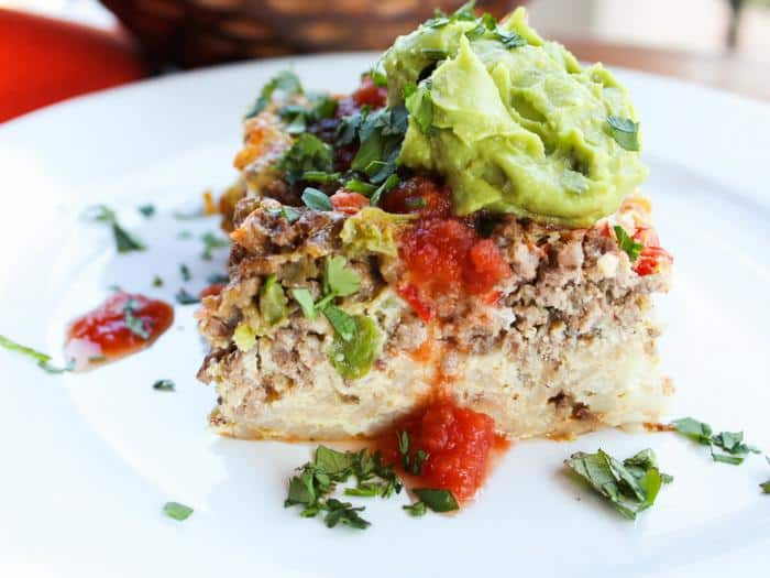 Mexican Breakfast Casserole The Whole Cook HORIZONTAL FEATURE slice