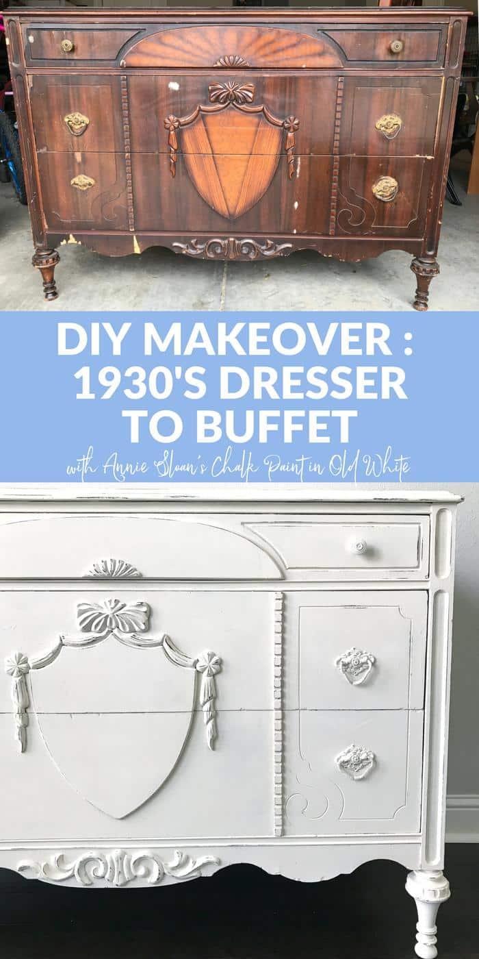 1930s Dresser to Buffet PINTEREST