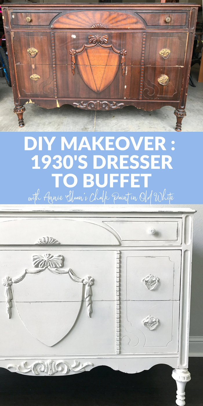 1930s Dresser to Buffet PINTEREST