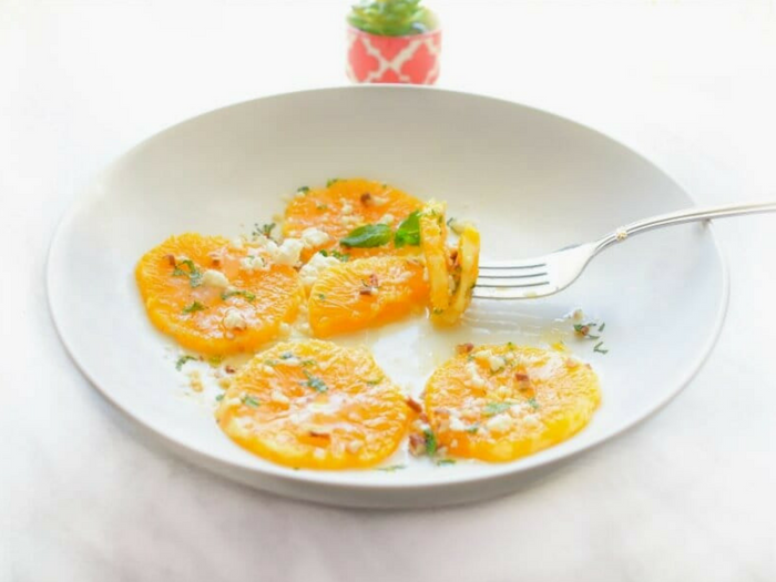 3 Minute Mediterranean Orange Salad by Easy Cooking with Molly