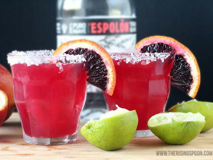 Blood Orange Margarita by The Rising Spoon