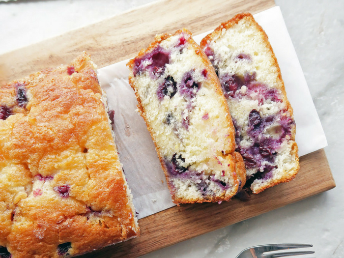 Classic Lemon Blueberry Loaf Cake by Yay for Food