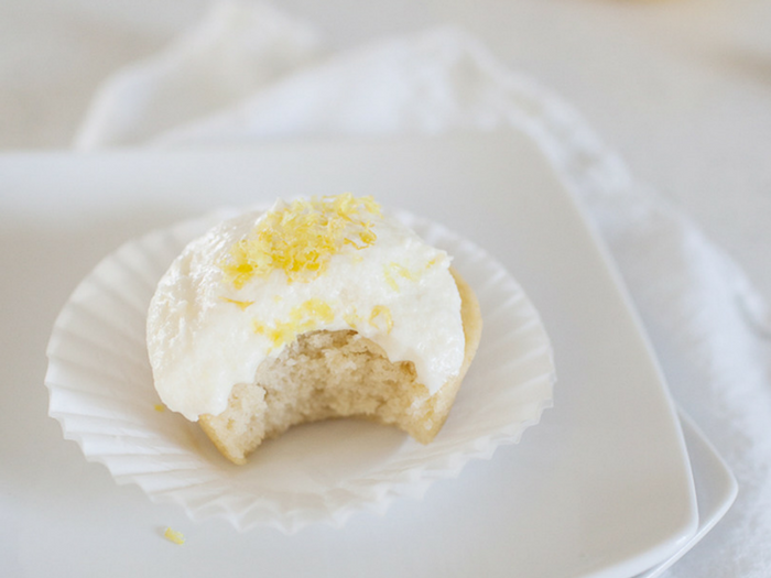 Double Lemon Cupcakes with Buttercream Frosting by Joyfully Mad