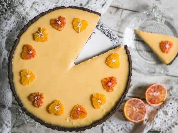 Dried Fig & Blood Orange Tart by Use Your Noodles