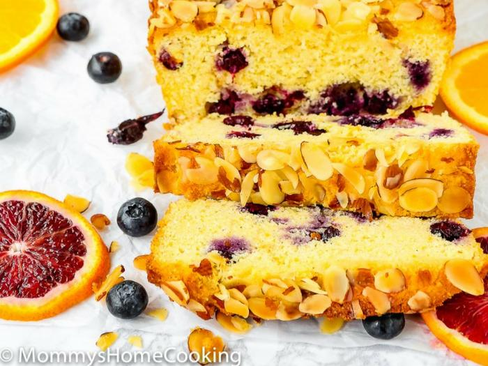 Eggless Orange Blueberry Cornbread by Mommy's Home Cooking