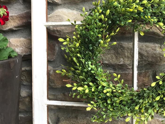 Faux Boxwood Wreath COMPLETE 2