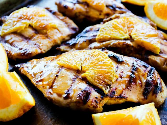 Grilled Orange Chicken by The Whole Cook horizontal