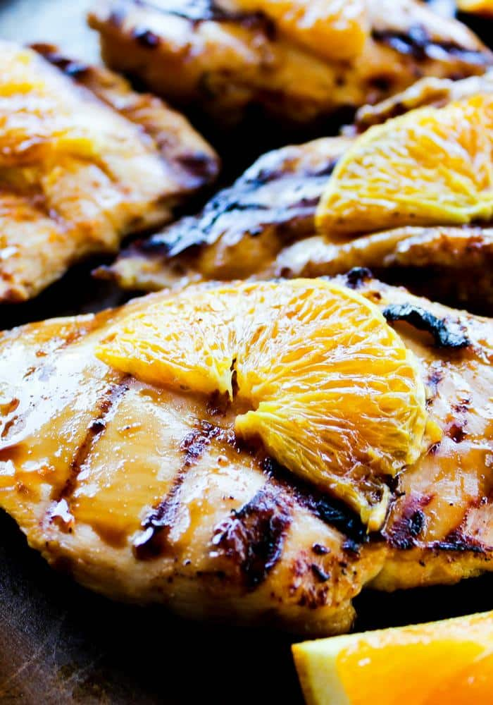 Grilled Orange Chicken by The Whole Cook vertical