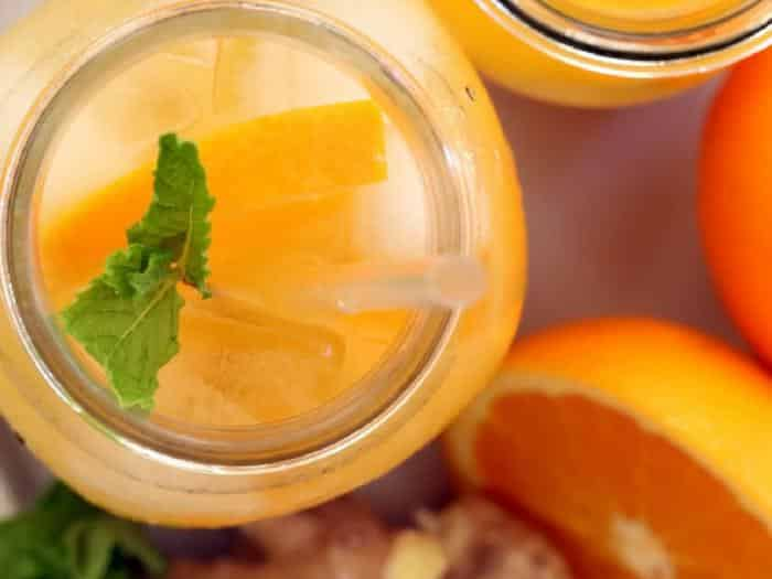 Iced Orange Ginger Green Tea by The Harvest Kitchen