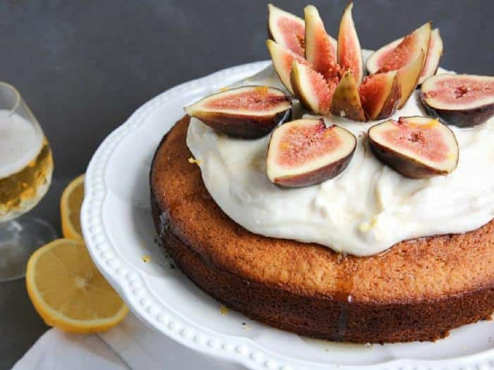 Lemon Beer Cake with Honey and Figs by The Petite Cook