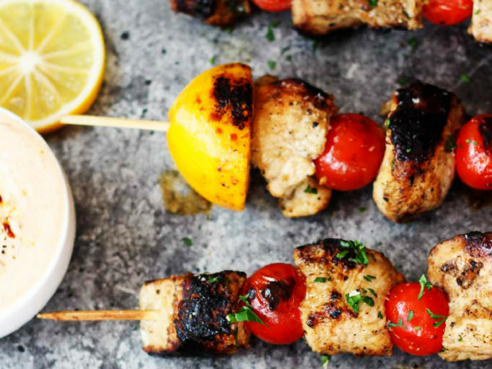 Lemon Chicken Skewers by Platings and Pairings