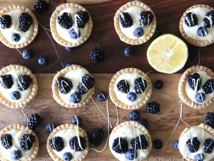 Lemon Cream Tarts with Berries by Girl Heart Food