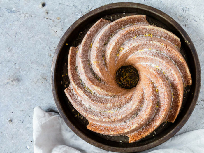 Lemon Lavender Bundt Cake by Recipes from a Pantry