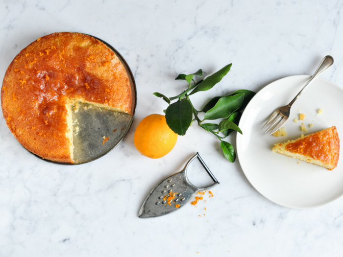 Meyer Lemon Syrup Cake by Eat Little Bird