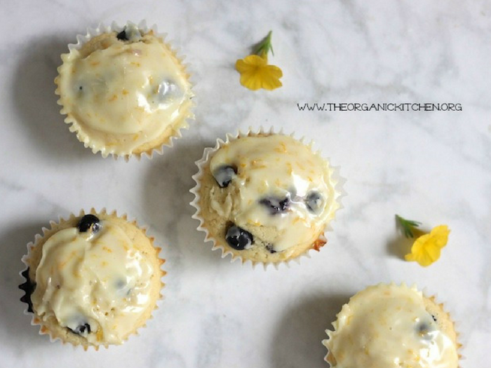 Orange Blueberry Buttermilk Cupcakes by The Organic Kitchen