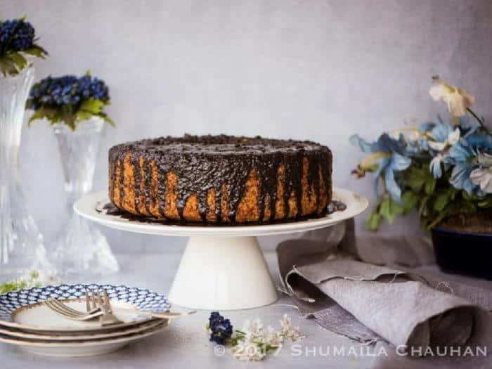 Orange Chocolate Chiffon Cake by The Novice Housewife