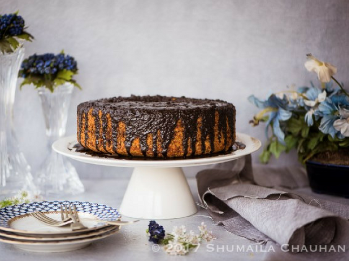 Orange Chocolate Chiffon Cake by The Novice Housewife