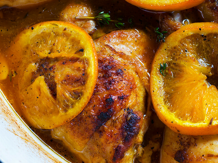 Orange Cumin Roast Chicken by Cooking Maniac