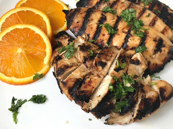 Grilled Orange Chicken - The Whole Cook