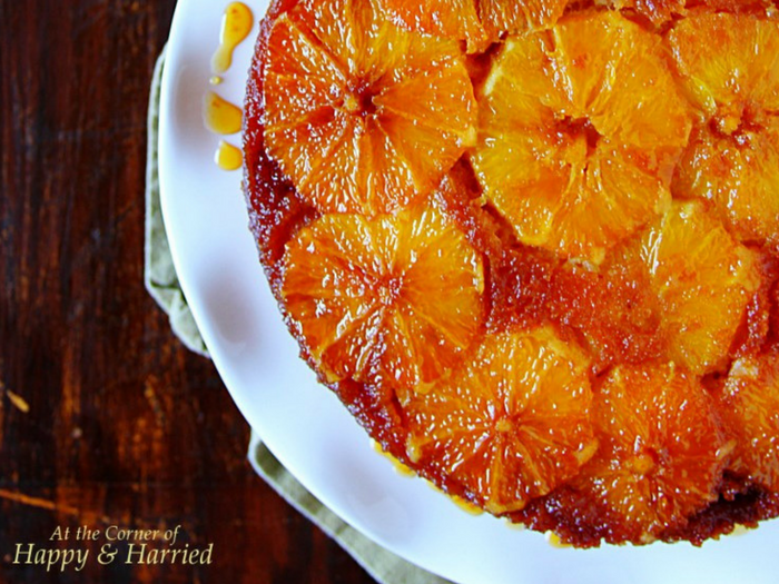 Orange Upside Down Cake by Happy and Harried