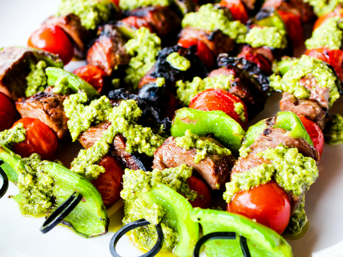 Pesto Steak Kabobs by The Whole Cook horizontal(1)