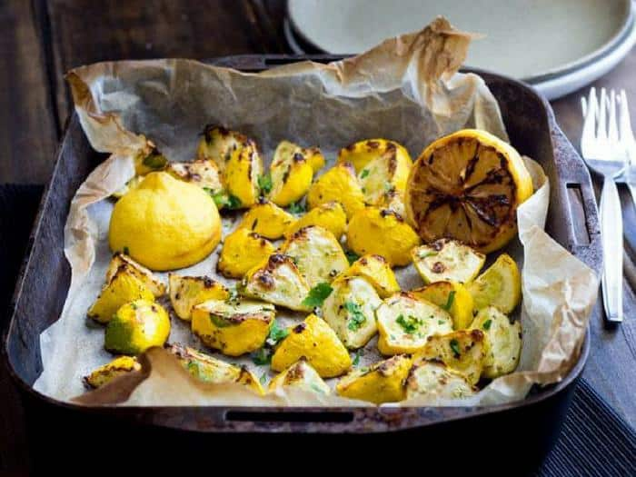 Roasted Summer Squash with Thyme and Charred Lemon by Sprinkles & Sprouts