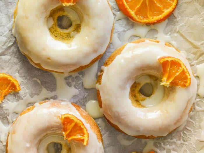 Sticky Orange Olive Oil Baked Donuts by A Virtual Vegan