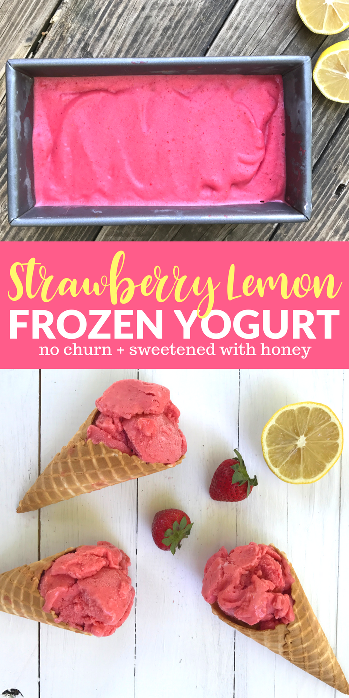 Strawberry Lemon Frozen Yogurt