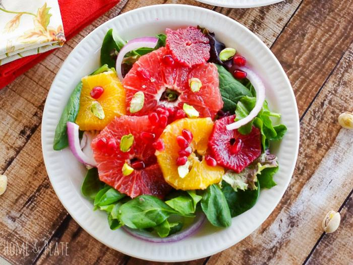 Winter Sweet Citrus Salad by Home and Plate