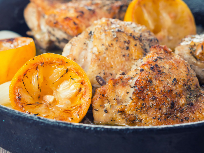 Zingy Summer Garlic Lemon Chicken by Krumpli
