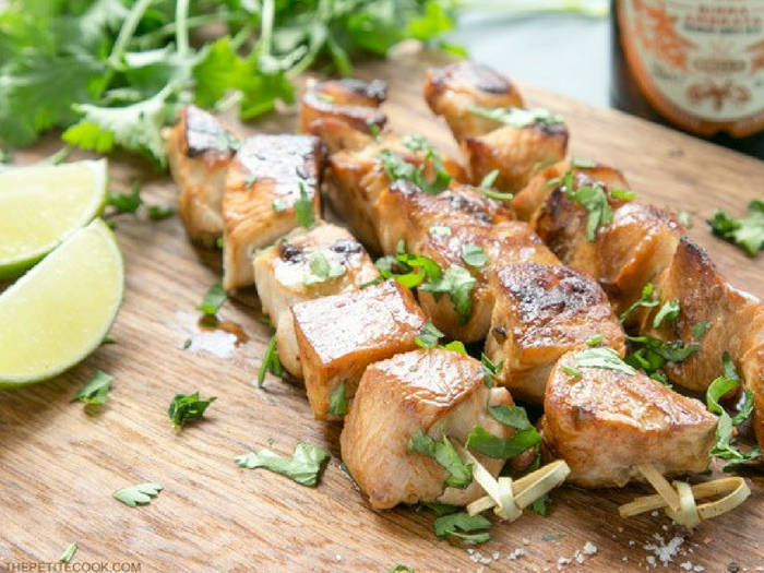 Beer Lime Chicken Skewers by The Petite Cook(1)