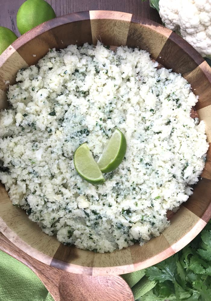Cilantro Lime Cauliflower Rice by The Whole Cook VERTICAL FEATURE