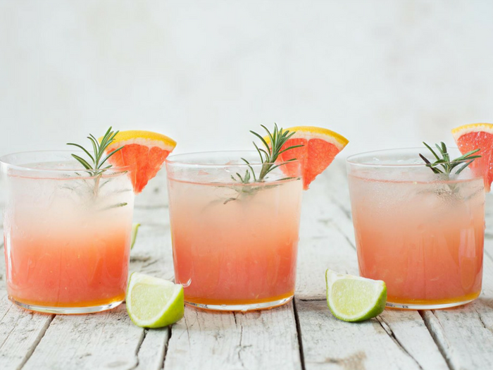 Grapefruit Lime Cocktail with Ginger & Rosemary by Use Your Noodles