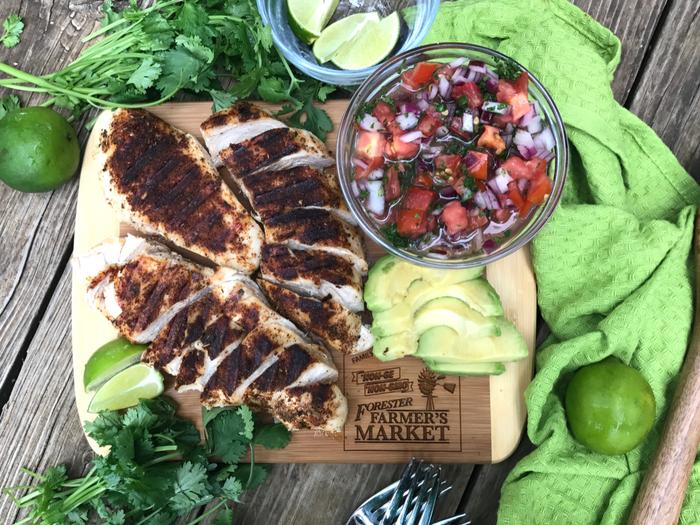 Grilled Chicken Cauli Rice Burrito Bowl by The Whole Cook FFM CHICKEN FEATURE