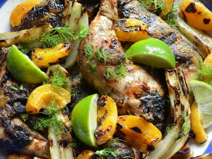 Grilled Chicken with Fennel & Apricots by She Loves Biscotti