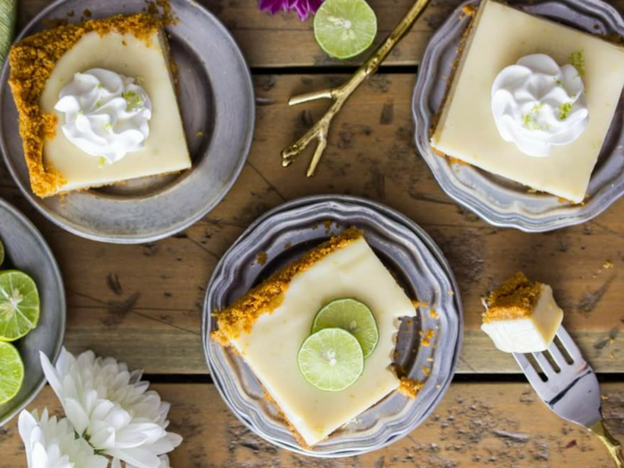 Key Lime Pie Bars by Sugar Spun Run