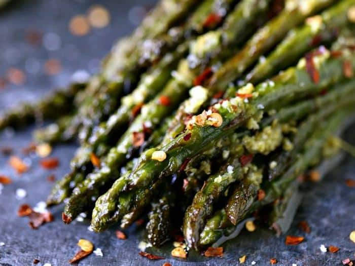 Skillet Asparagus with Lime Butter by Cravings of a Lunatic