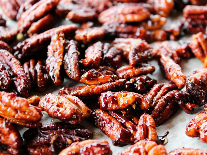 Sticky Candied Pecans by The Whole Cook horizontal