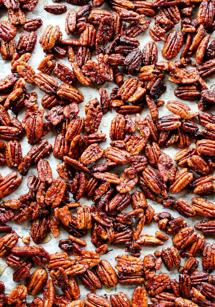 Sticky Candied Pecans by The Whole Cook vertical