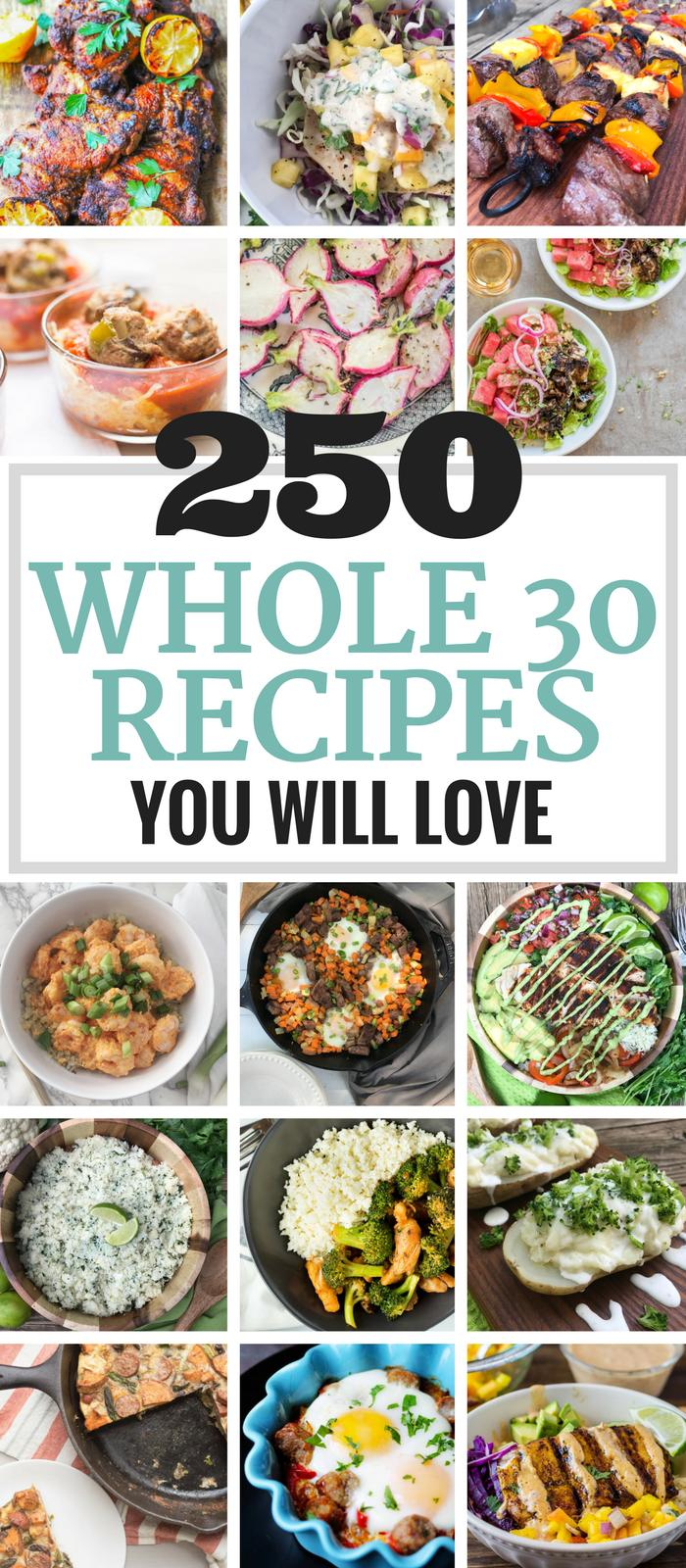 250 Whole 30 Recipes You Will Love via The Whole Cook