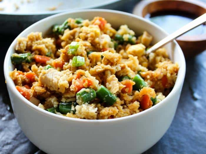 Chicken Fried Cauliflower Rice by The Whole Cook horizontal