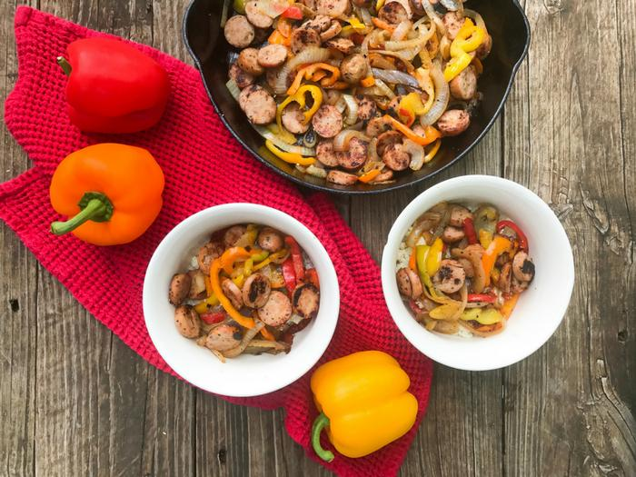 Chicken Sausage & Peppers by The Whole Cook HORIZONTAL FEATURE