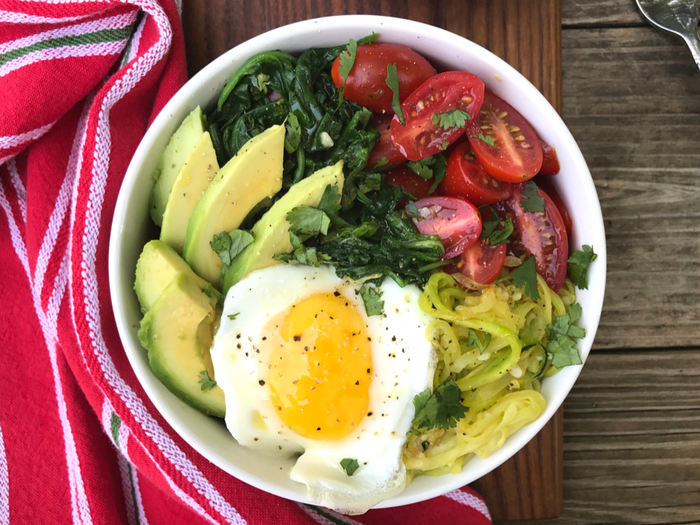 Gimme More Zoodles Veggie Bowl by The Whole Cook HORIZONTAL FEATURE