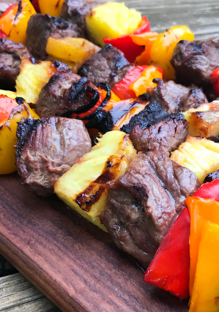 Hawaiian Steak Kabobs by The Whole Cook VERTICAL FEATURE 1